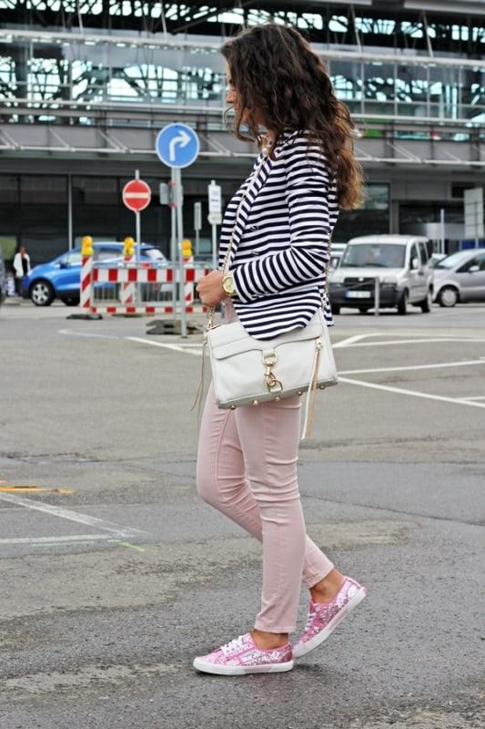 look calça rosa