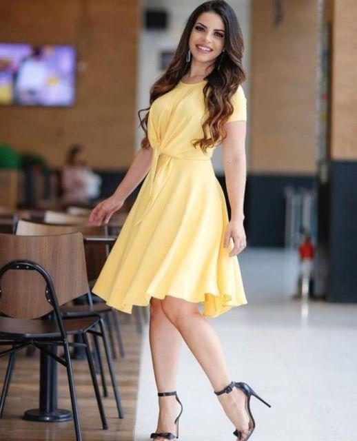 vestido rodado