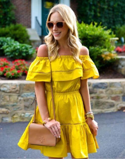 vestido rodado curto