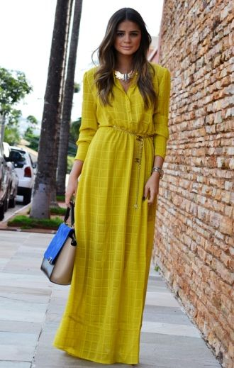 vestido longo com mangas longas