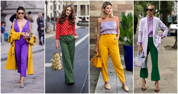 looks com cores complementares