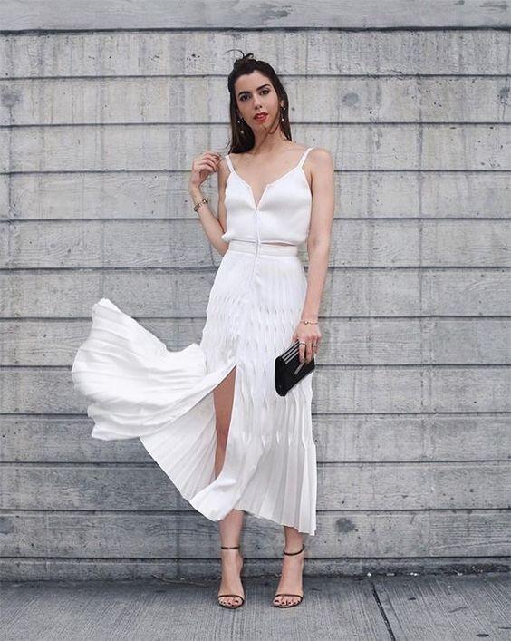 vestido midi de alcinha para noivado