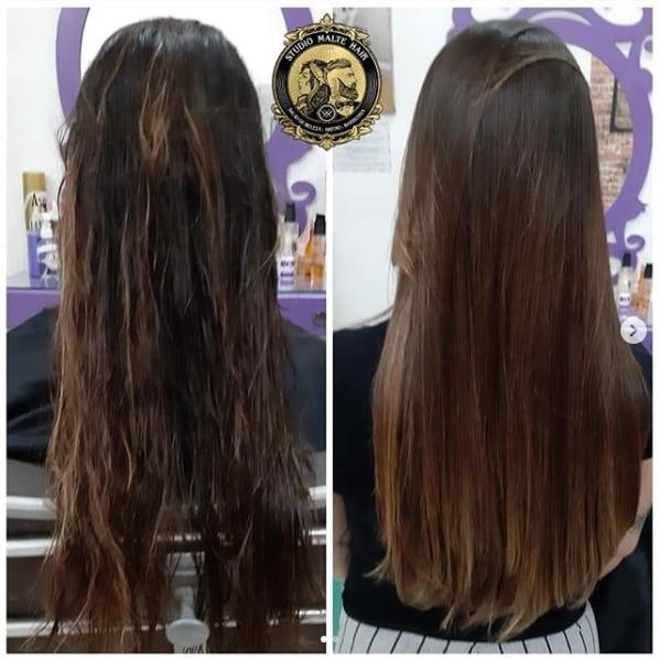 cabelo longo alisado