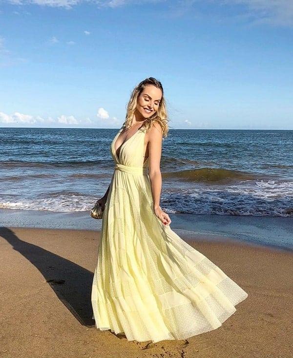 vestido madrinha para casamento na praia