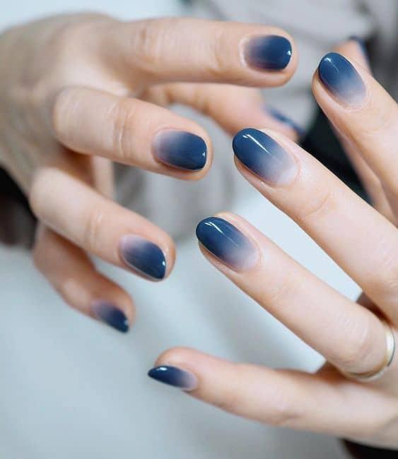 unha decorada azul
