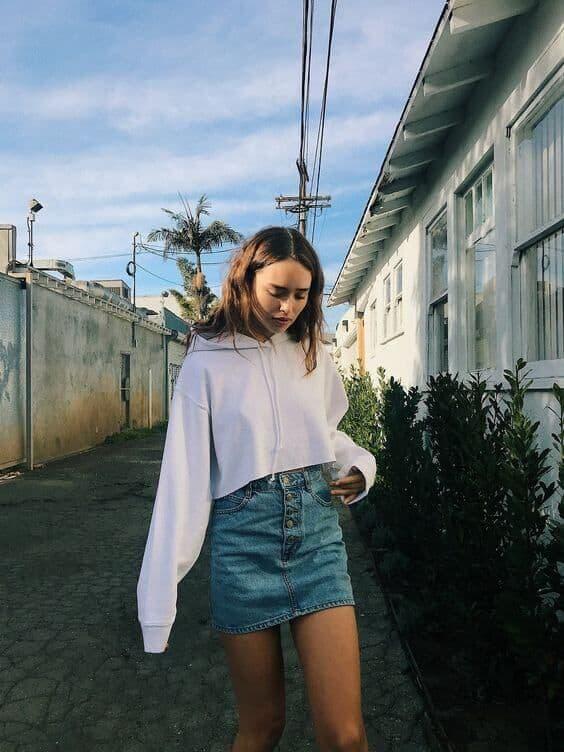 look saia jeans com moletom