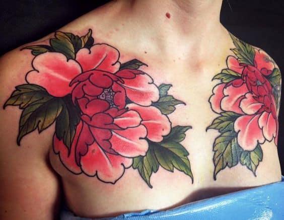 peônia tattoo oriental