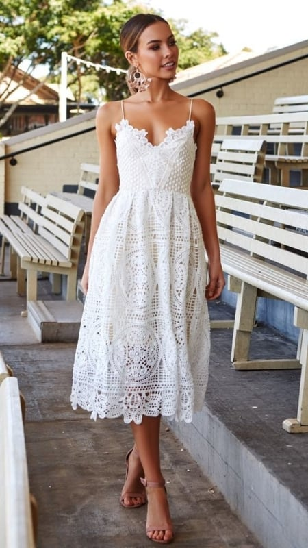 vestido branco romântico