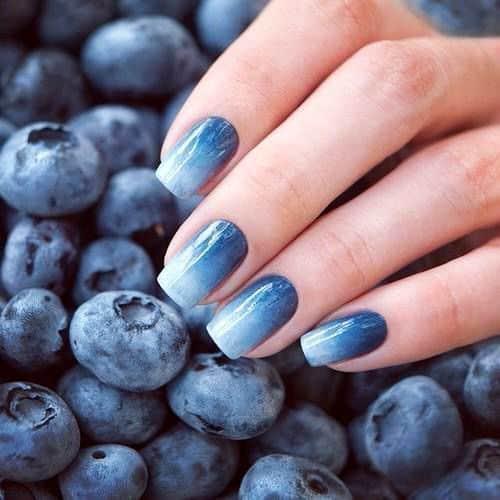 nail art azul