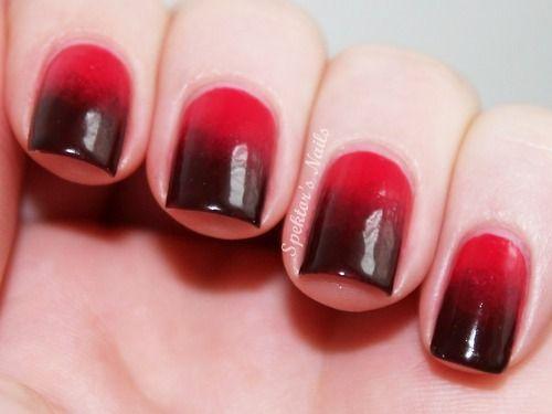 unha vermelha e preta