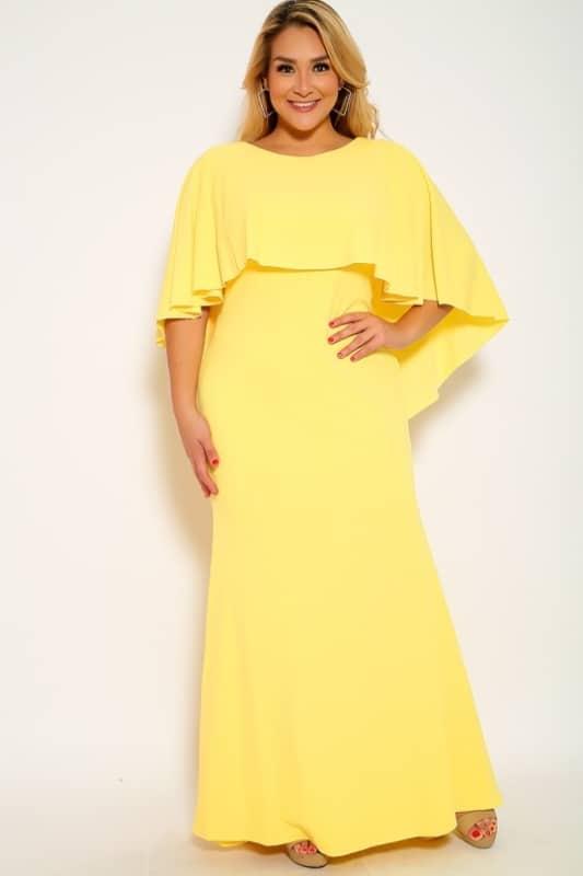 vestido amarelo claro plus size