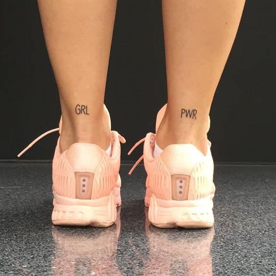 tatuagem girl power