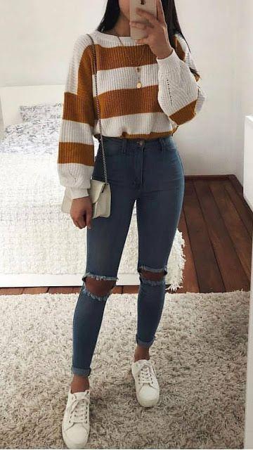 estilo tumblr com suéter