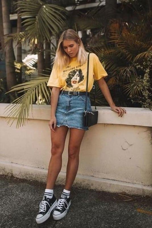 look com t shirt feminina