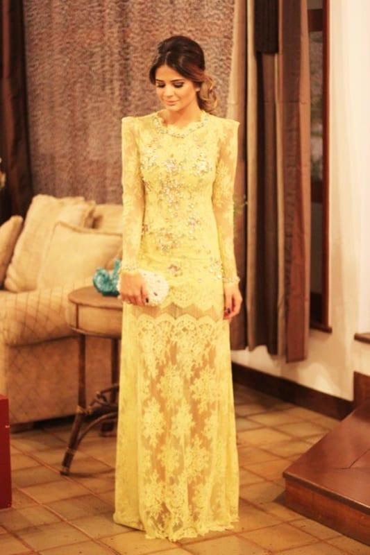 vestido longo de renda para madrinha
