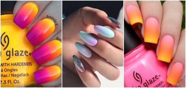 decoração unhas coloridas