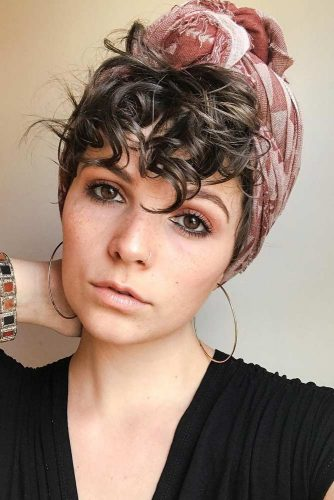 penteado com turbante
