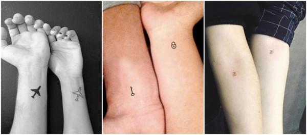 tatuagens pequenas para casal