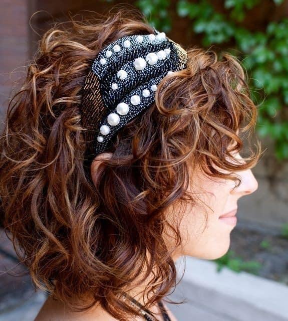penteado para festa cabelo ondulado curto