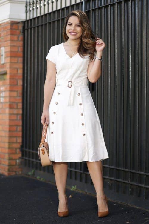 vestido branco moda evangélica