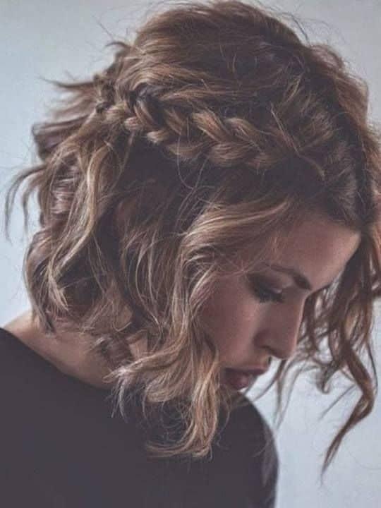 penteado solto com trança