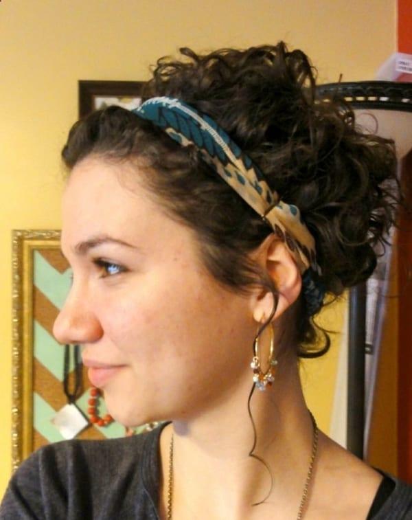 penteado simples cabelo ondulado
