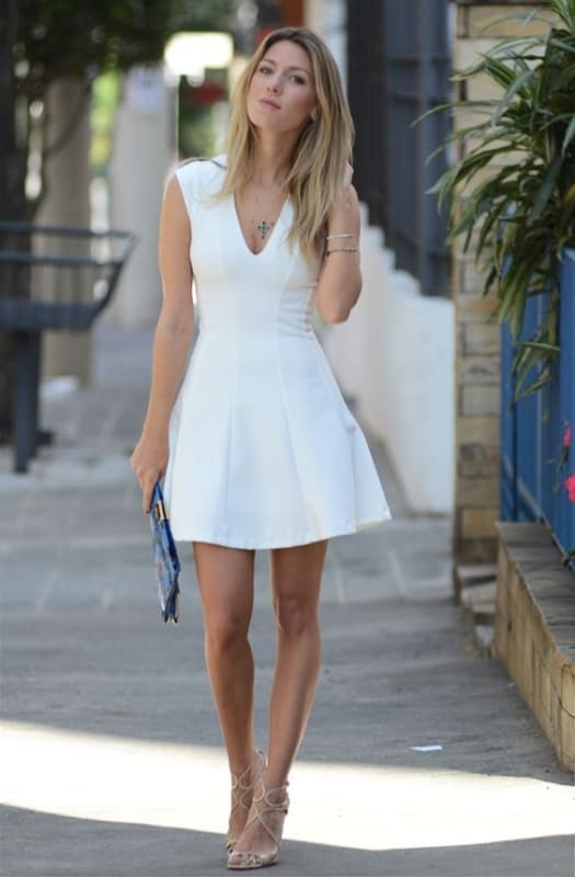 vestido simples e barato branco