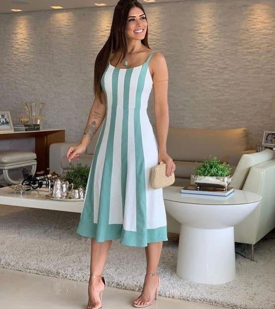 vestido simples para festa de noivado