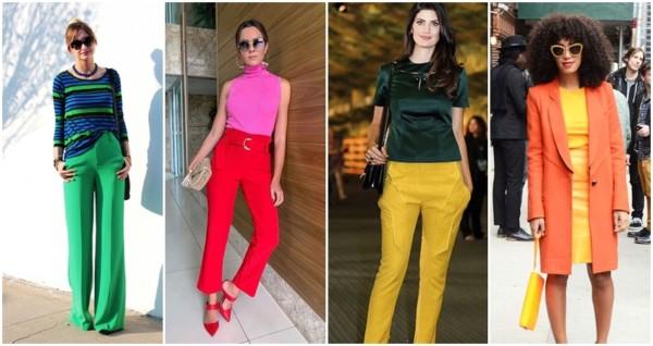 como combinar roupas de cores próximas