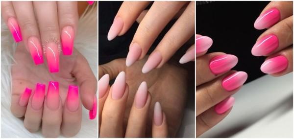 nail art unhas rosa