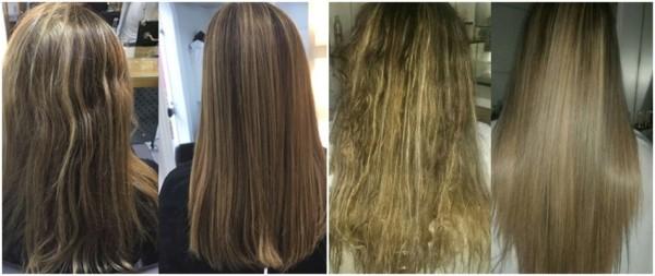 fotos de antes e depois escova london