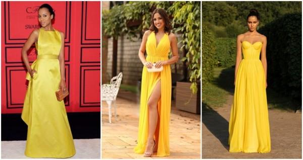 vestido de madrinha amarelo longo