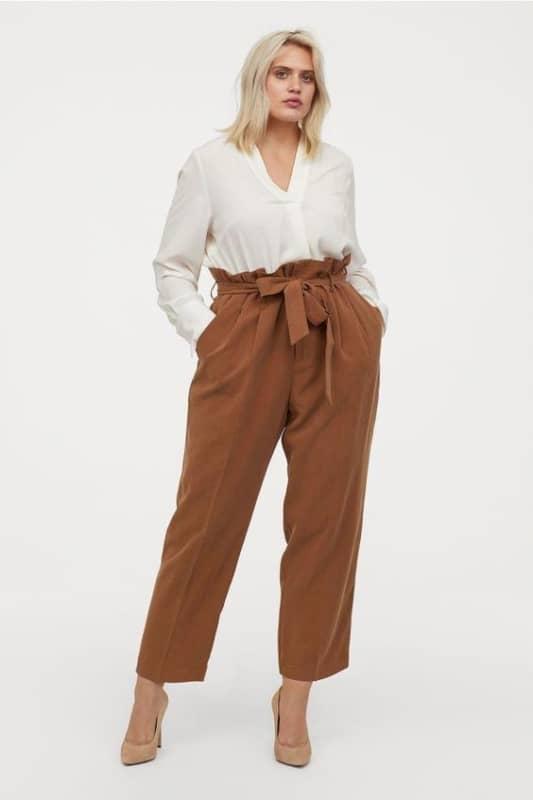 Look social com calça modelo clochard 44