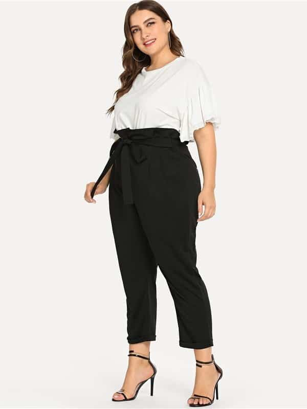 calca clochard plus size 45