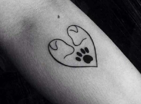 como fazer tatuagem de pata de cachorro pequena e delicada