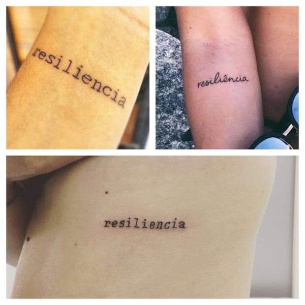 ideias de tattoo resiliência