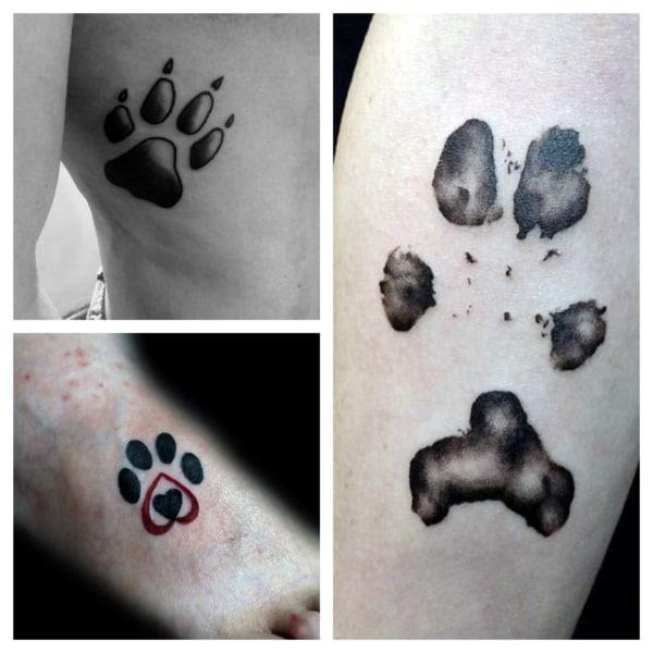 Tatuagem de pata de cachorro – 50 tattoos fofas e super criativas!