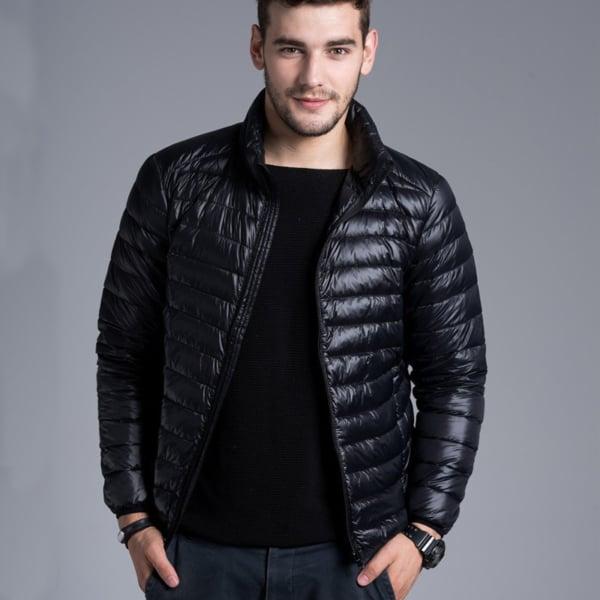 jaqueta puffer masculina plus size preta