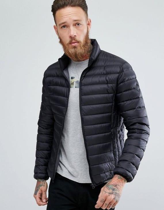 jaqueta puffer masculina preta