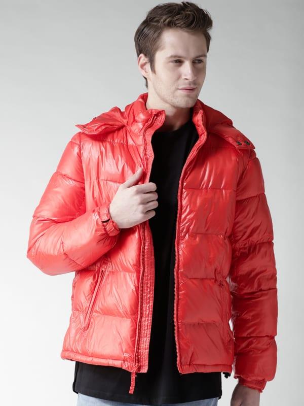 jaqueta puffer masculina vermelha