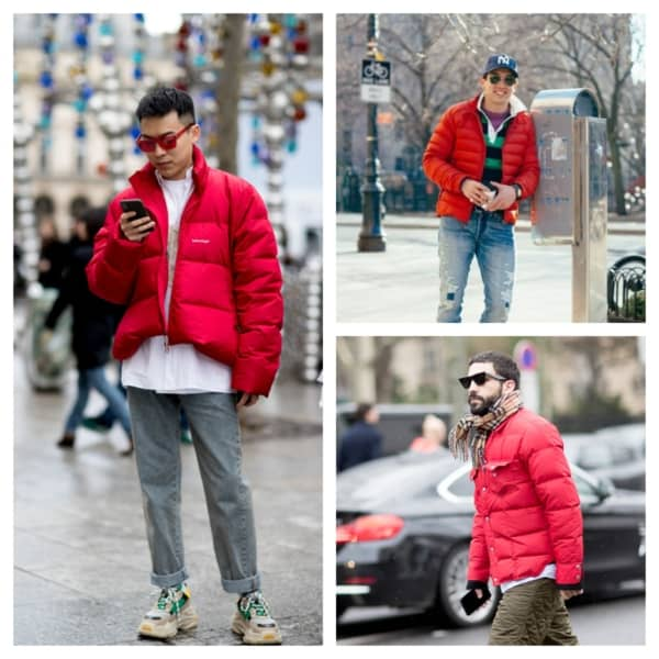 jaqueta puffer vermelha