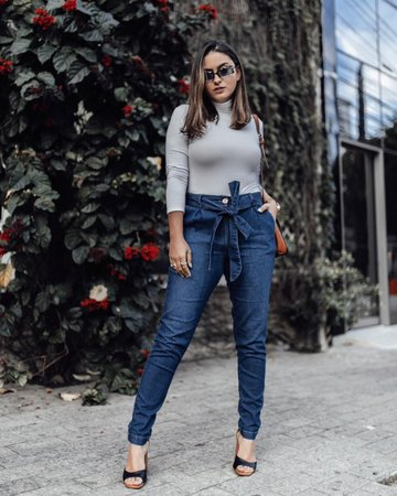 look com calça jeans clochard 10