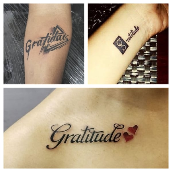 modelos de tatuagem gratidão