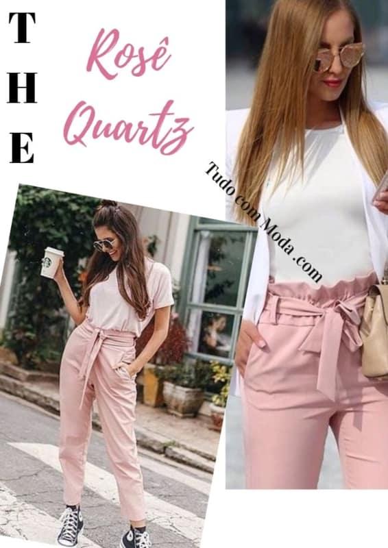 produção com calça rosa clochard 32