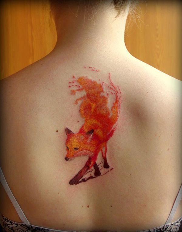 raposa laranja nas costas