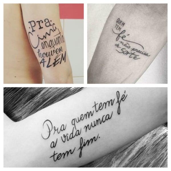 Tatuagens de frases no braço – 45 inspirações perfeitas para tatuar!