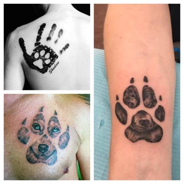 tattoo de patinha de cachorro