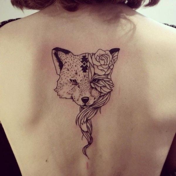 tatuagem de raposa feminina