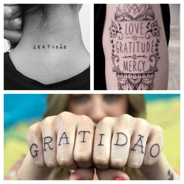 Tatuagem Gratidão – 55 tattoos lindíssimas com fontes inspiradoras!