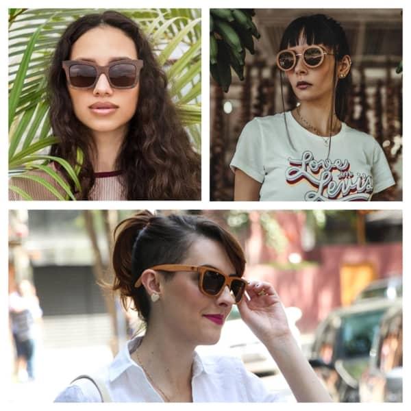 óculos de madeira feminino 1